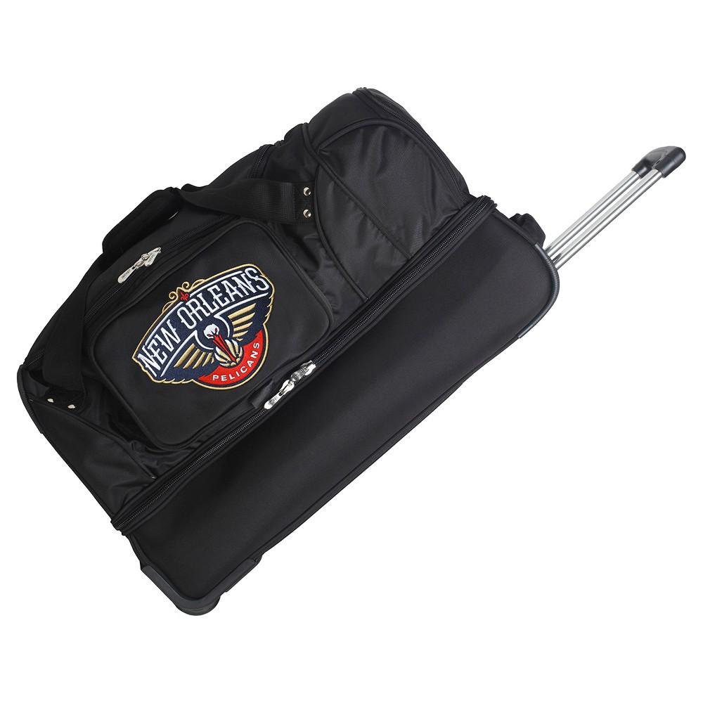 NBA New Orleans Pelicans Mojo 27 Rolling Drop Bottom Duffel Bag