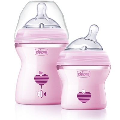 Chicco Natural Fit Colorific Bottle - Pink 2pk
