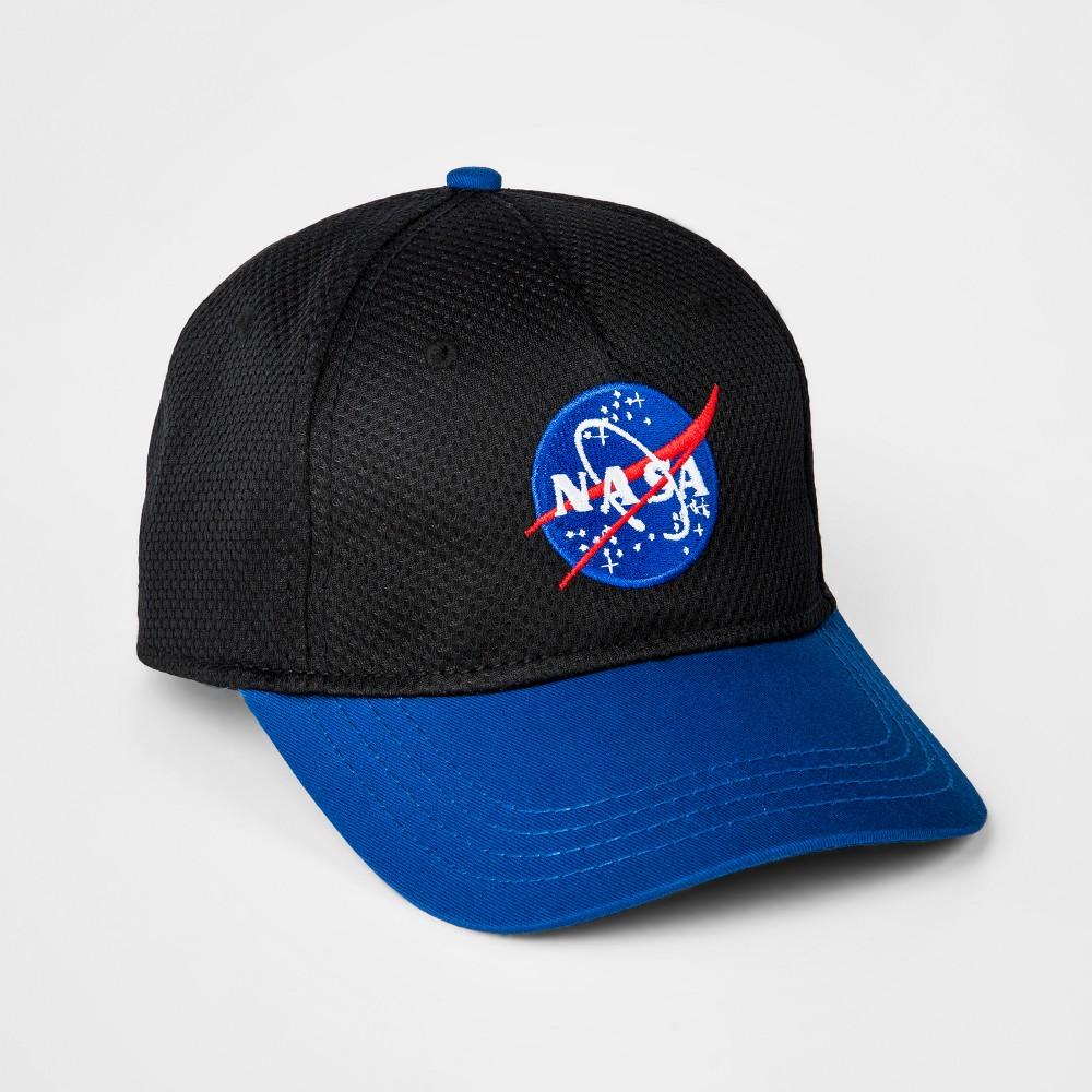 Boys' Nasa Mesh Baseball Hat - Black