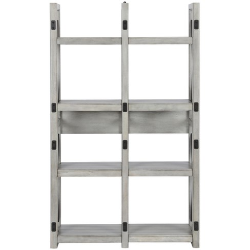 Hathaway Bookcase Room Divider 60 Rustic White