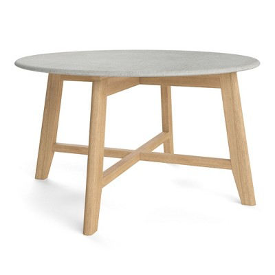 """31.5"""" Elysian Coffee Table with Faux Cement Top Natural - Aeon"""