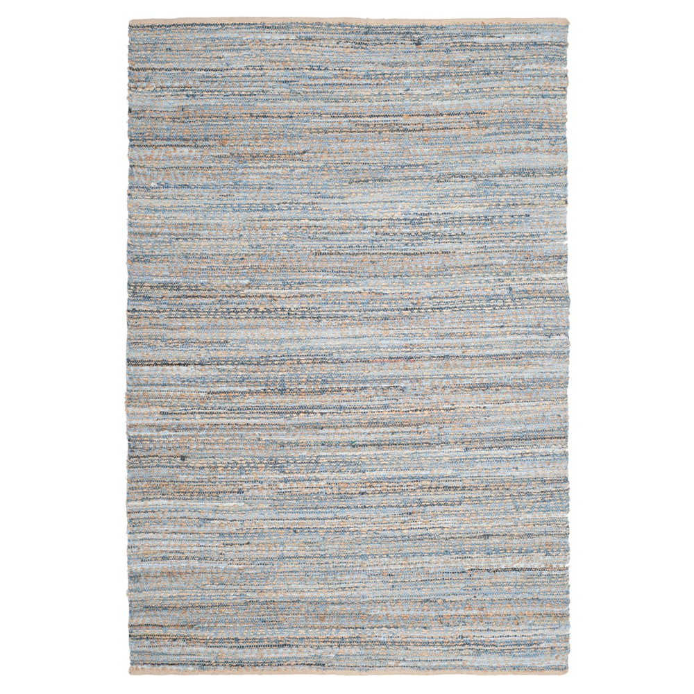 Archie Area Rug - Natural/Blue (6'x9') - Safavieh