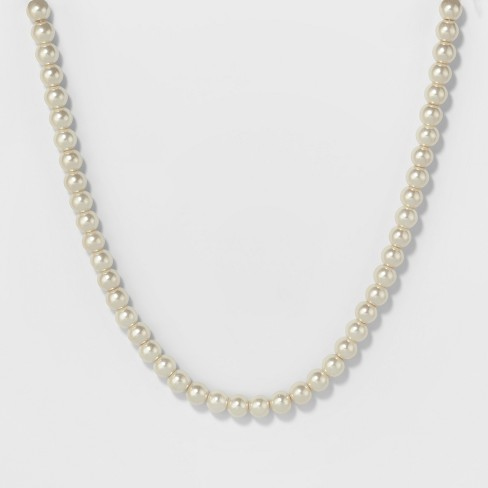 Short Pearl Necklace - A New Day™ Silver - image 1 of 2