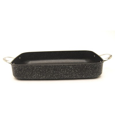 Starfrit The Rock 10 x 13 Inch Oblong Pan with Stainless Steel Handles