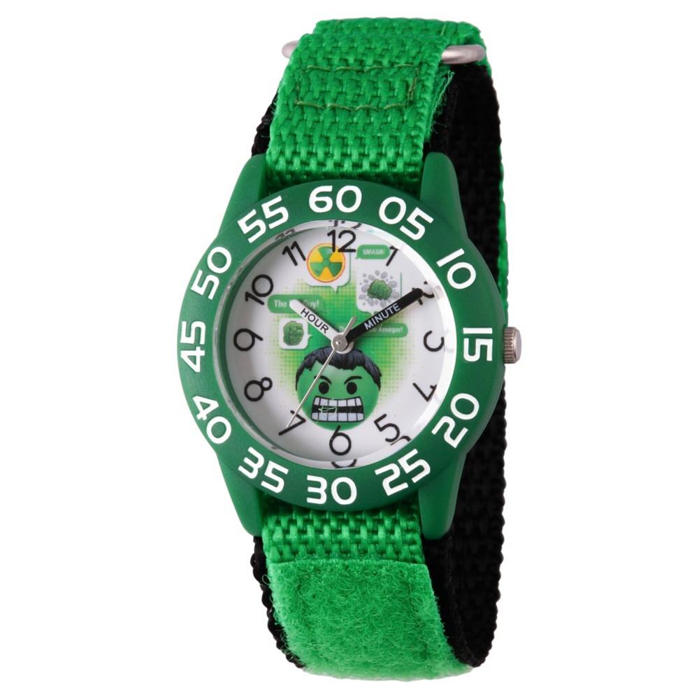 Best Price Boys Marvel Emoji Hulk Plastic Time Teacher Watch Green