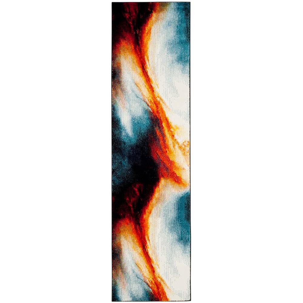 22X8 Loomed Galaxy Runner Rug Orange - Safavieh Top