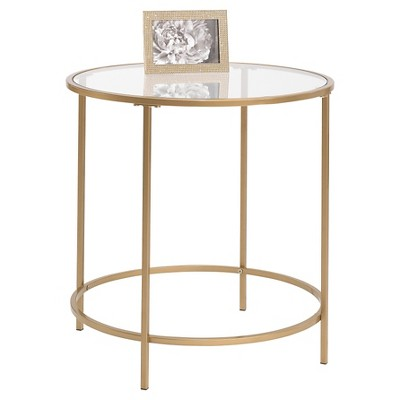 International Lux Side Table   Satin Gold