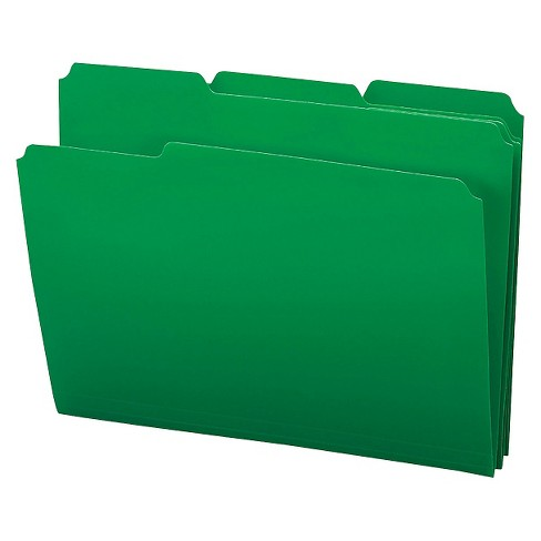 Smead® Waterproof Poly File Folders, 1/3 Cut Top Tab, Letter, Green, 24/Box - image 1 of 1