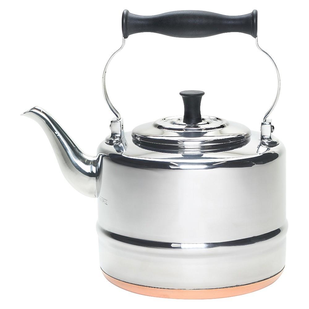 BonJour Tea 2 Qt. Stainless Steel (Silver) Teakettle