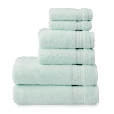 6pc Noah Bath Towel Set Turquoise - Martha Stewart