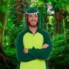 FUNZIEZ! - Dinosaur Adult Unisex Novelty Union Suit - image 2 of 4