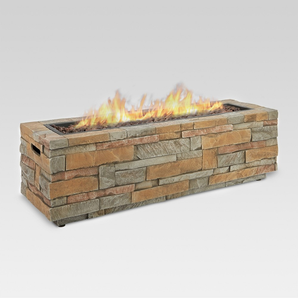 Scottsdale 48 Concrete Propane Fire Table - Lightweight Fiber - Real Flame