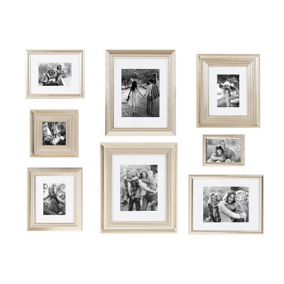 8pc Odessa Frame Box Set Champagne - Kate & Laurel All Things Decor