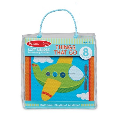 Melissa & Doug Soft Shapes Take-Along Puzzles - Things That Go