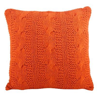 """20""""x20"""" Cable Knit Design Throw Pillow - Saro Lifestyle"""