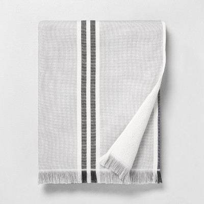 Stripe Beach Towel Black / Sour Cream - Hearth & Hand™ with Magnolia