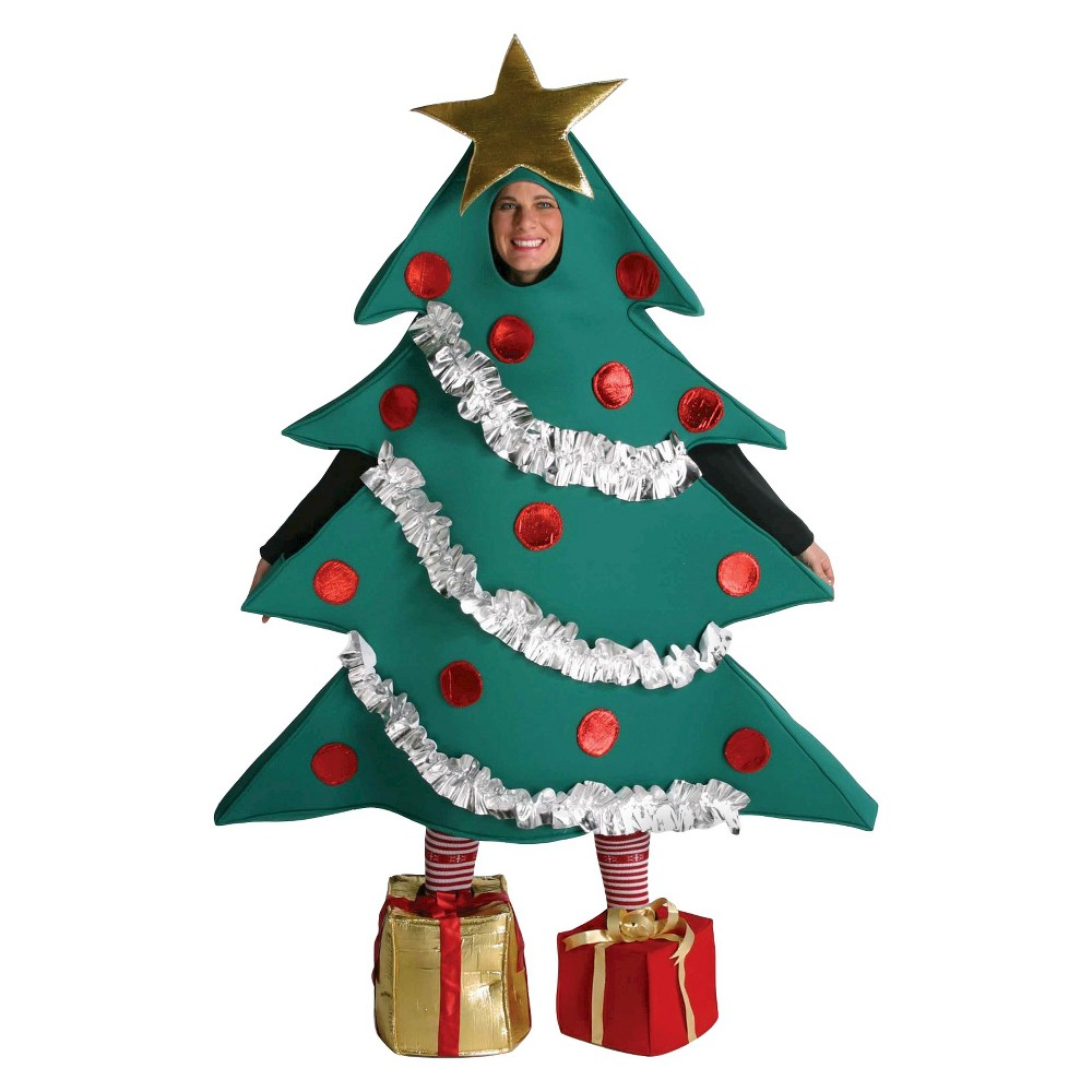 Men's Christmas Tree with Shoe Boxes Adult Costume Large, Green