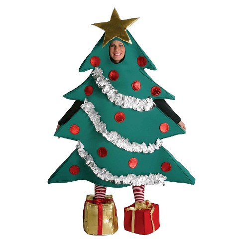 Men's Christmas Tree with Shoe Boxes Adult Costume Large - image 1 of 1