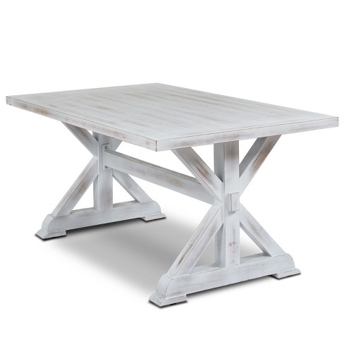 "63"" Arles Aluminum Dining Table White - Thy Hom - image 1 of 6"