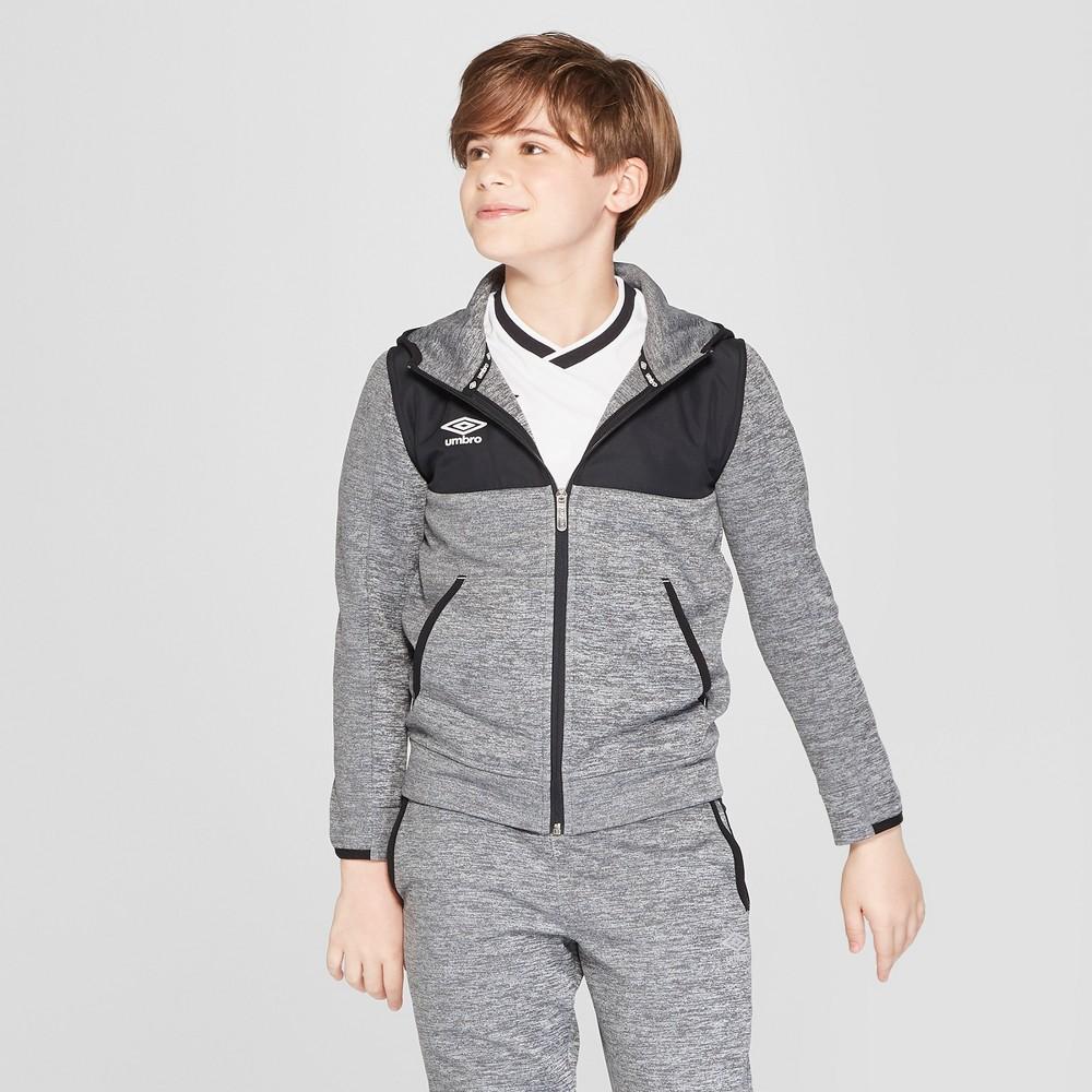 Umbro Boys' Premium Fleece Full Zip Hoodie - Gray XL