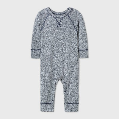 Baby Boys' Hatchi Long Sleeve Romper - Cat & Jack™ Blue 0-3M