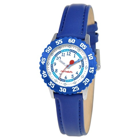 Boys' Red Balloon Stainless Steel Time Teacher Watch - Blue - image 1 of 2