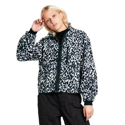 Women's Leopard Print Sherpa Jacket - Sandy Liang x Target Black/White