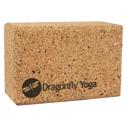 "DragonFly Cork/EVA Yoga Block - Brown (4"") - image 1 of 1"