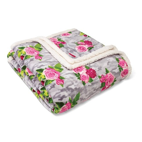 Floral Print Plush Bed Blanket - Betseyville - image 1 of 2