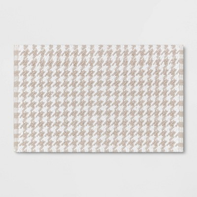 Houndstooth Bath Rug Beige - Threshold™