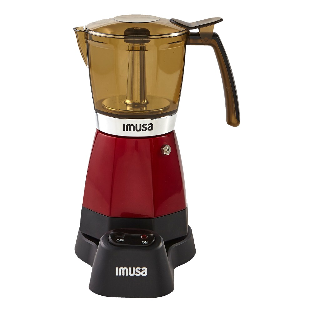 Imusa 6 Cup Electric Espresso Maker – Red 53019599