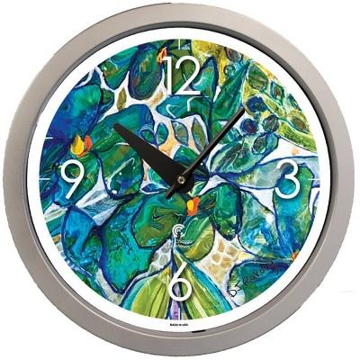 "14.5"" Artist Series Diane Rakocy Up Close Decorative Clock Silver - The Chicago Lighthouse"
