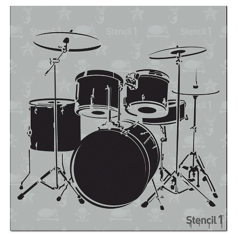 "Stencil1® Drum Set - Stencil 5.75"" x 6"" - image 1 of 3"