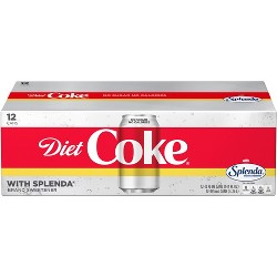 Diet Coke Splenda Soda - 12pk/12 fl oz Cans
