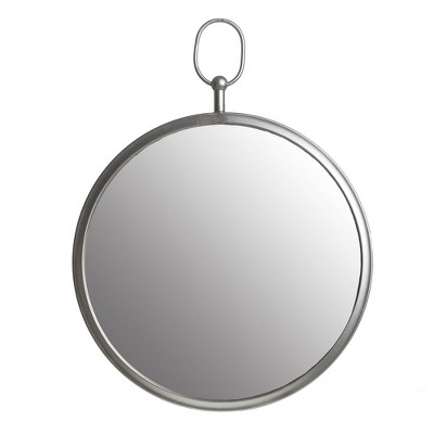 """18""""x24"""" Wall Mirror with Decorative Handle Silver - Patton Wall Decor"""