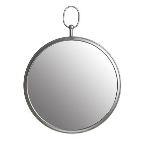 18 X24 Wall Mirror With Decorative Handle Silver Patton Decor