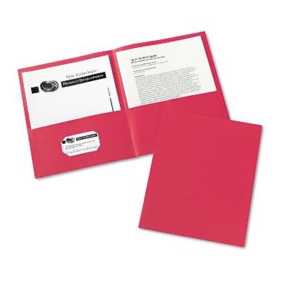 Avery Two-Pocket Folder 40-Sheet Capacity Red 25/Box 47989