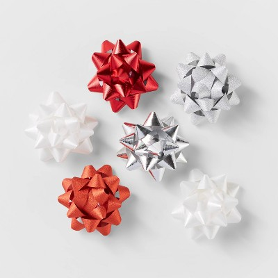 15ct Gift Bows Red/White/Silver - Wondershop™