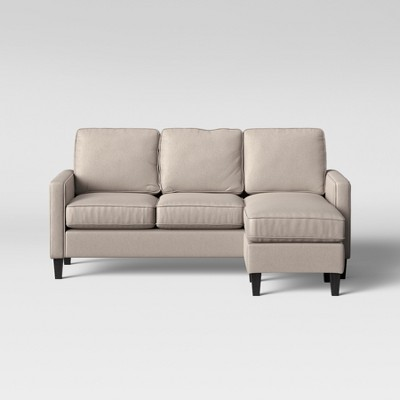 Elmhurst Loose Back Cushion Sofa With Reversible Chaise Beige   Project 62™