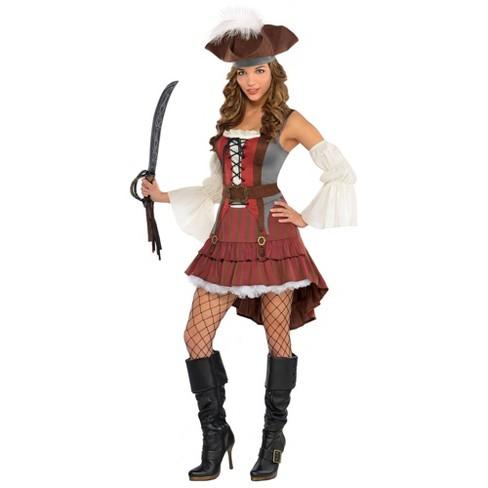 Women's Castaway Pirate Halloween Costume - image 1 of 1