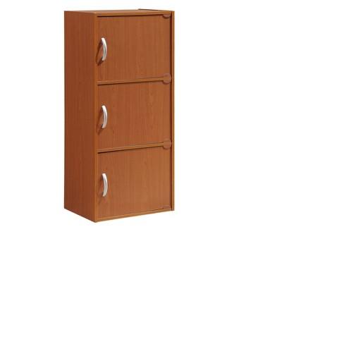 Storage Cabinet Cherry - Hodedah Import - image 1 of 5