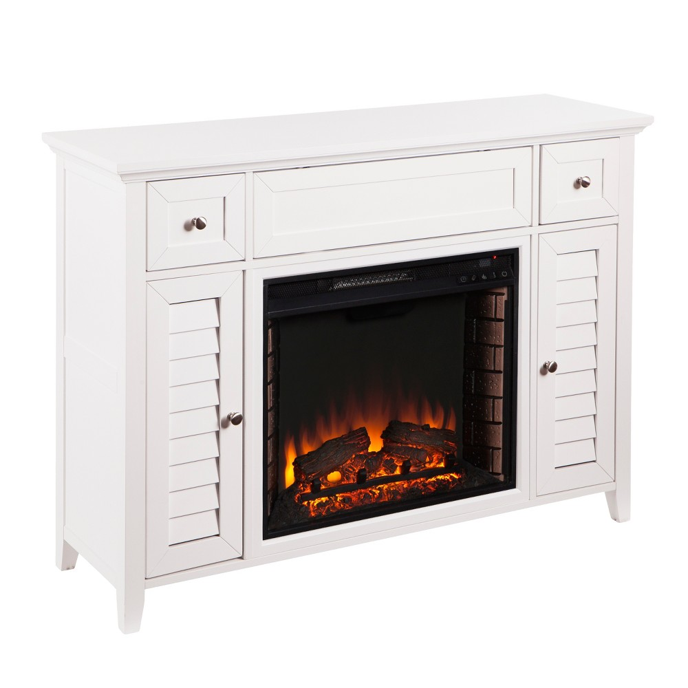 Fairview Media Fireplace Console White - Aiden Lane