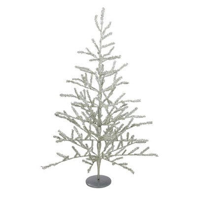 Northlight 3' Unlit Artificial Christmas Twig Tree Full Champagne Tinsel