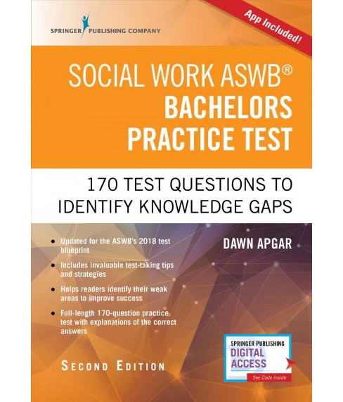 Social Work ASWB Bachelors Practice Test : 170 Questions to Identify Knowledge Gaps (Paperback) (Ph.D. - image 1 of 1