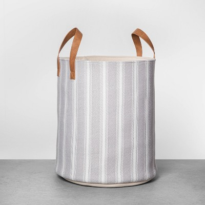 "16"" Large Stripe Storage Bin - Hearth & Hand™ with Magnolia"