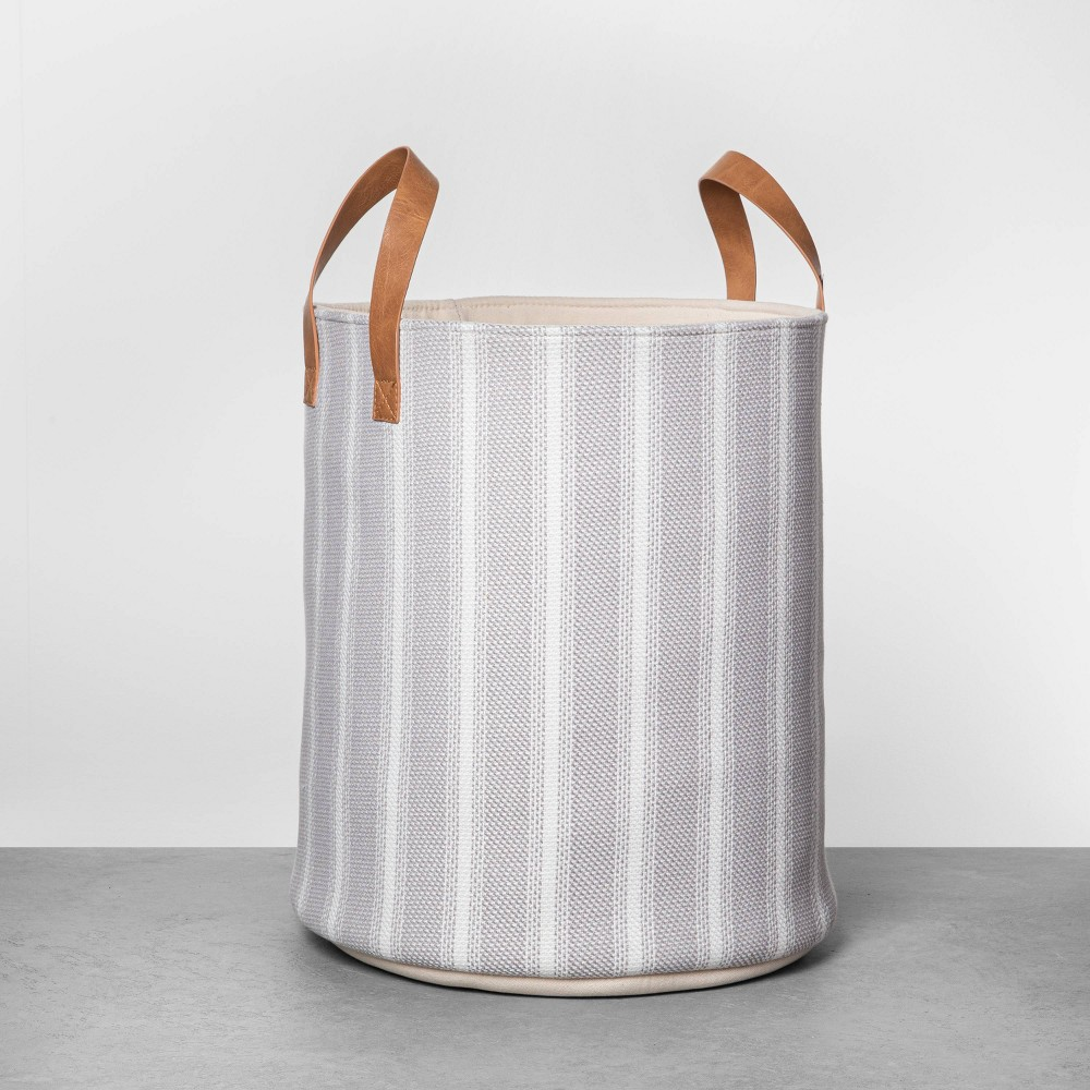 "Image of ""16"""" Large Stripe Storage Bin - Hearth & Hand with Magnolia"""