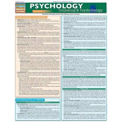 Psychology: Counseling & Psychotherapy - by  Barcharts Inc (Wall_chart)