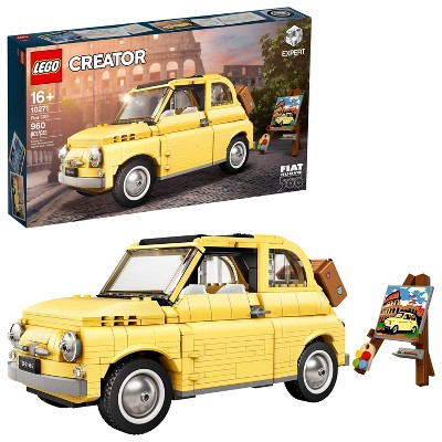 LEGO Creator Expert Fiat 500 Toy Car Building Set for Adults Who Love Model Kits 10271