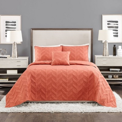 Texture Chevron Coverlet Set - Ayesha Curry