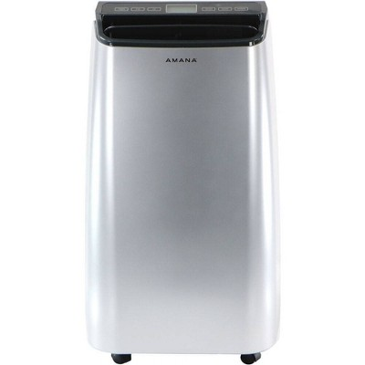 Amana Portable Air Conditioner AMAP101AW-2 with Remote Control for Rooms up to 250 sq ft Silver/Gray